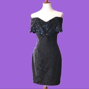 Vtg Jessica Mcclintock Gunne Sax Strapless Dress